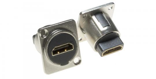 HDMI F/F Einbauflanschdose LKHA0020 zur Frontplattenmontage